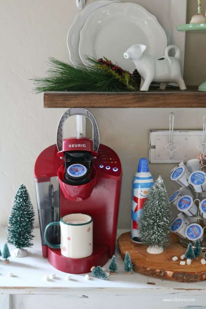 Hot Chocolate Bar Ideas, cute!! Love my Keurig brewer, makes it a breeze!