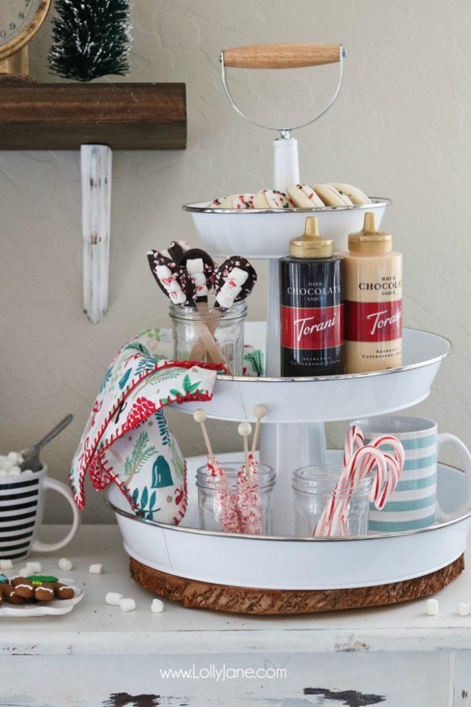 Hot Chocolate Bar Ideas, cute!! Love my Keurig brewer, makes it a breeze!