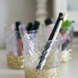 DIY Glitter Dipped Holder