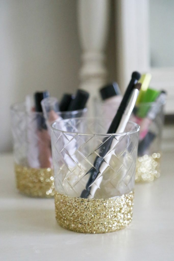 DIY Glitter Dipped Holder
