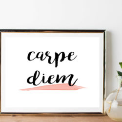 New Years free Carpe Diem print