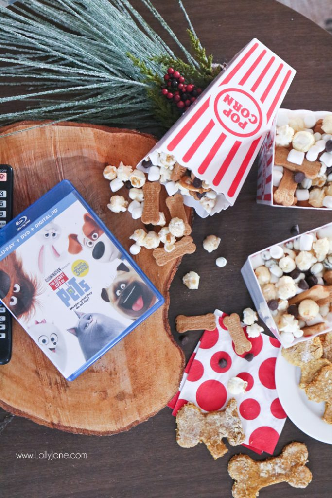 easy popcorn snack treat mix