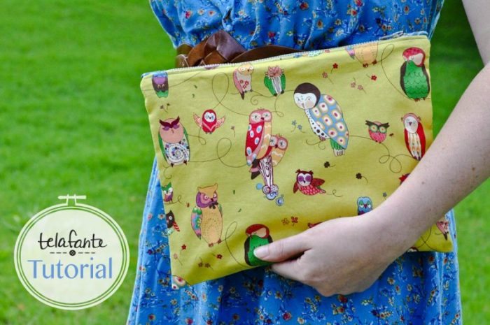 DIY Zipper Pouch with Tabs tutorial