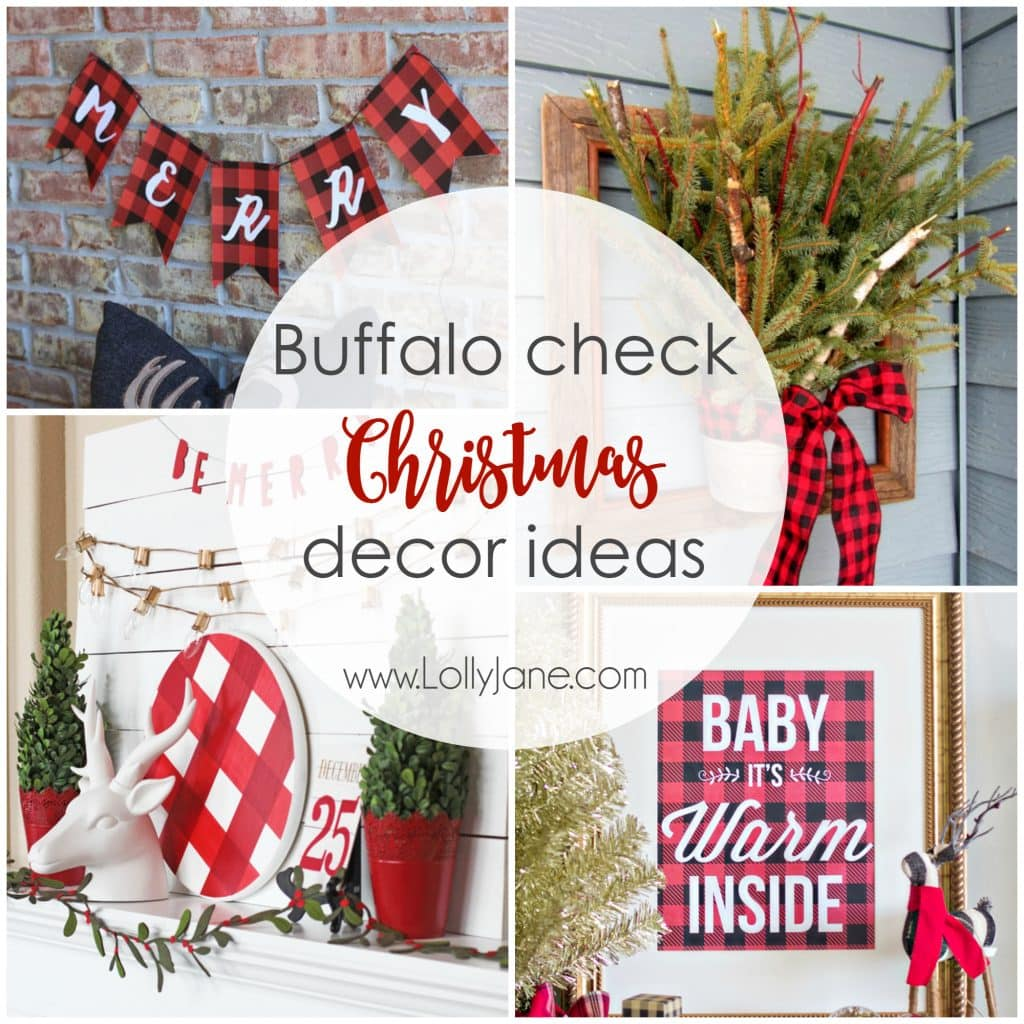 buffalo check christmas decor ideas - Plaid Christmas Decor