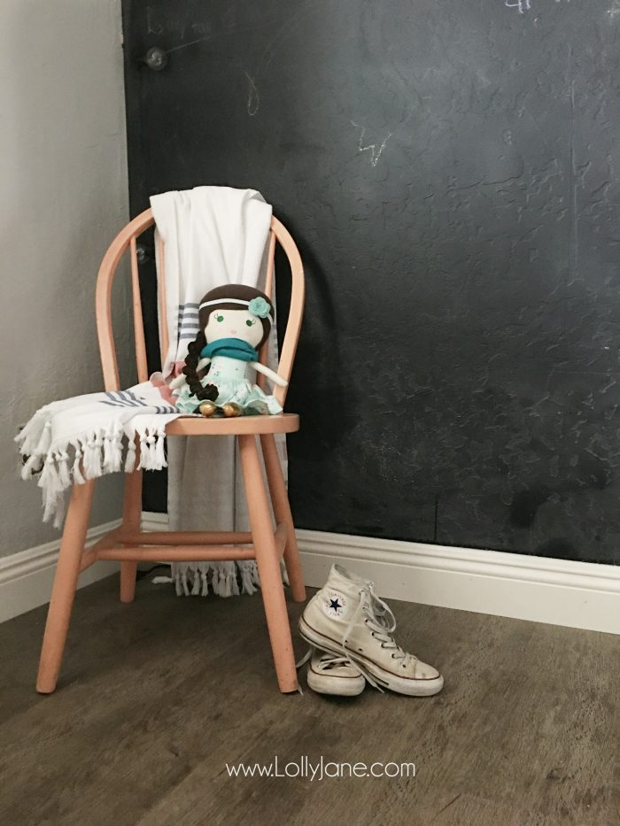 Love these vinyl floors from @GoHaus. They look great in my farmhouse style home! Adore this girl bedroom flooring too.