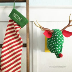 fabric reindeer head wall art