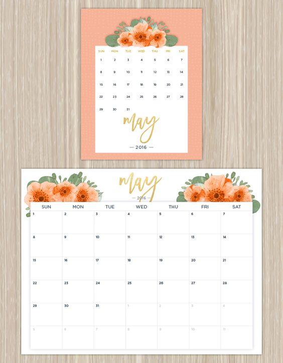 Calendar Floral : Free printable calendars lolly jane