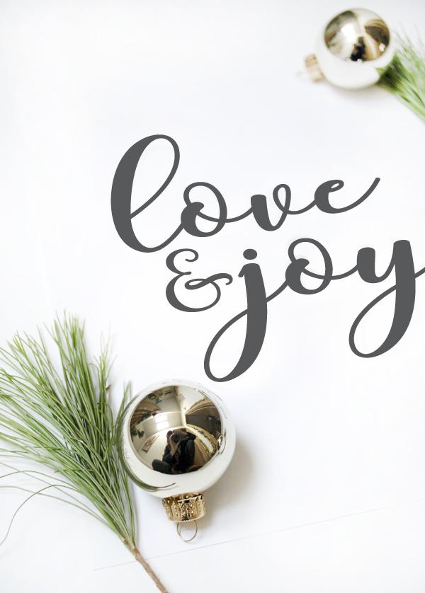 Free Love and Joy Christmas Printable