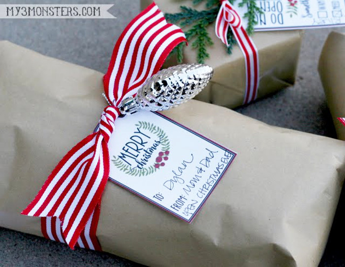 Love these darling Merry Christmas printable tags!