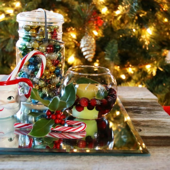 Build this easy rustic tray, perfect to display holiday decor on!