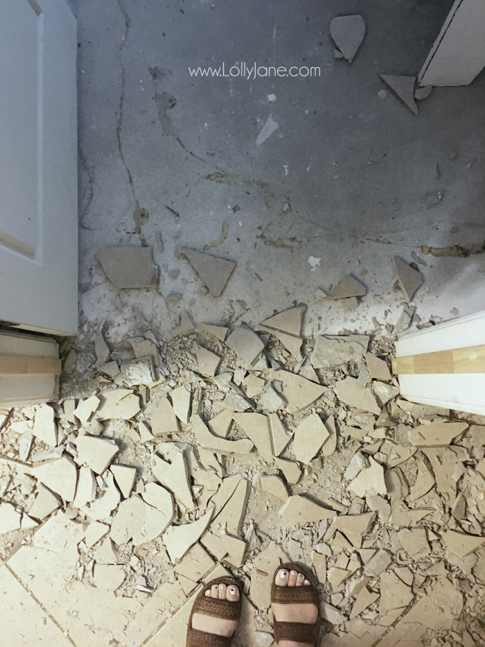 How to find the right flooring installers. Love this concrete to vinyl flooring makeover!