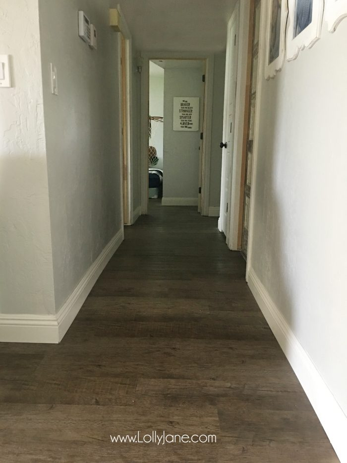 Love these vinyl floors from @GoHaus. They look great in my farmhouse style home!
