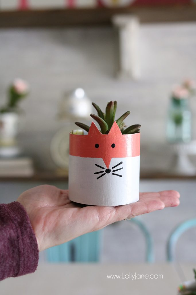 CUTE Cereal Box Succulent Planters. Made from cereal boxes and a few craft supplies, great for a kids craft or to make when on a budget!