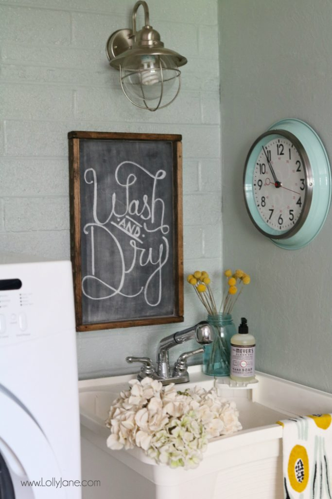 diy laundry room sources