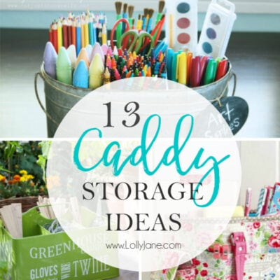 13 caddy storage ideas