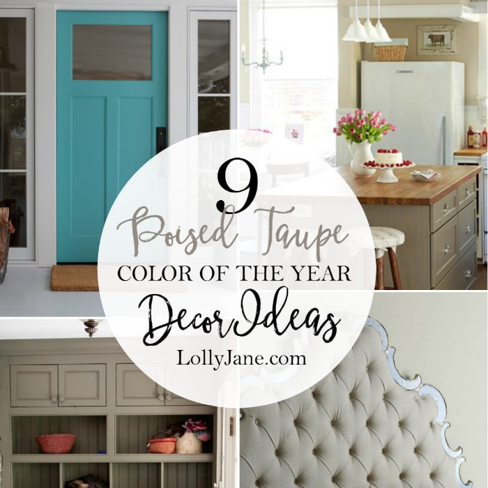 9 Poised Taupe color of the year decor ideas! Lots of pretty inspiration for this usually bland color.
