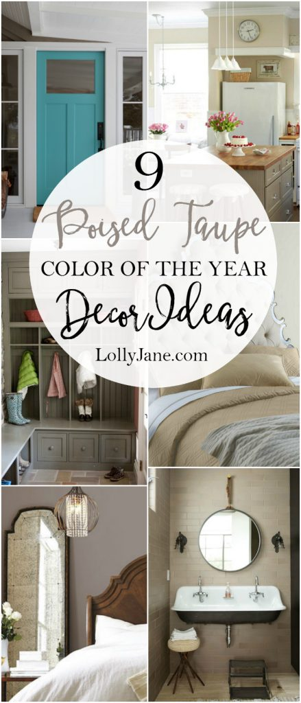 9 Poised Taupe Color Of The Year Decor Ideas! Lots Of Pretty Inspiration  For This