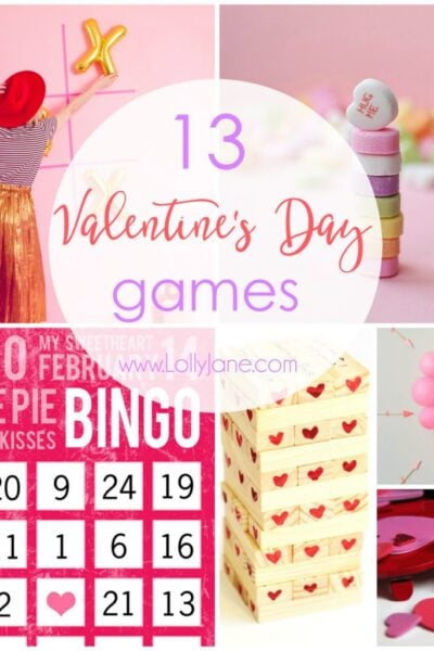 13 fun and easy Valentine's Day games! Love these fun Valentine's Day games for kids or adults alike!