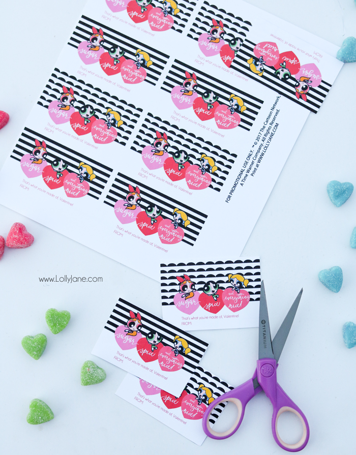 Love the cute Powerpuff Girls? Snag these FREE Printable Valentines to use for a party or card!