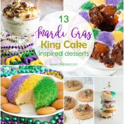 13 Mardi Gras King Cake Desserts