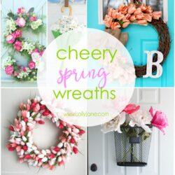 cheery spring wreaths