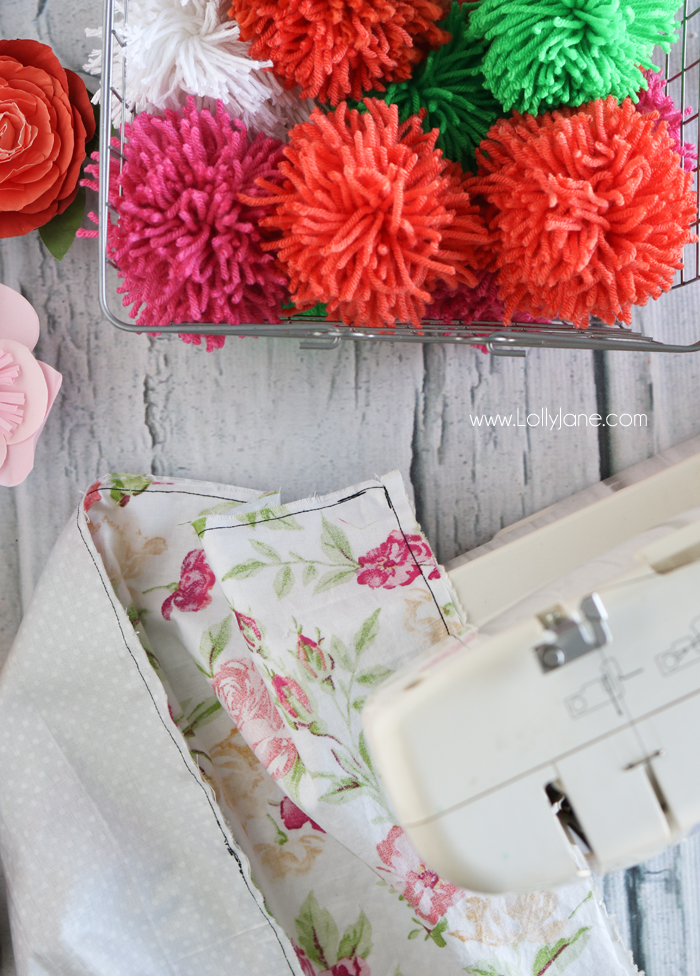 diy pom pom throw blanket so easy and cute great tutorial for sewers of
