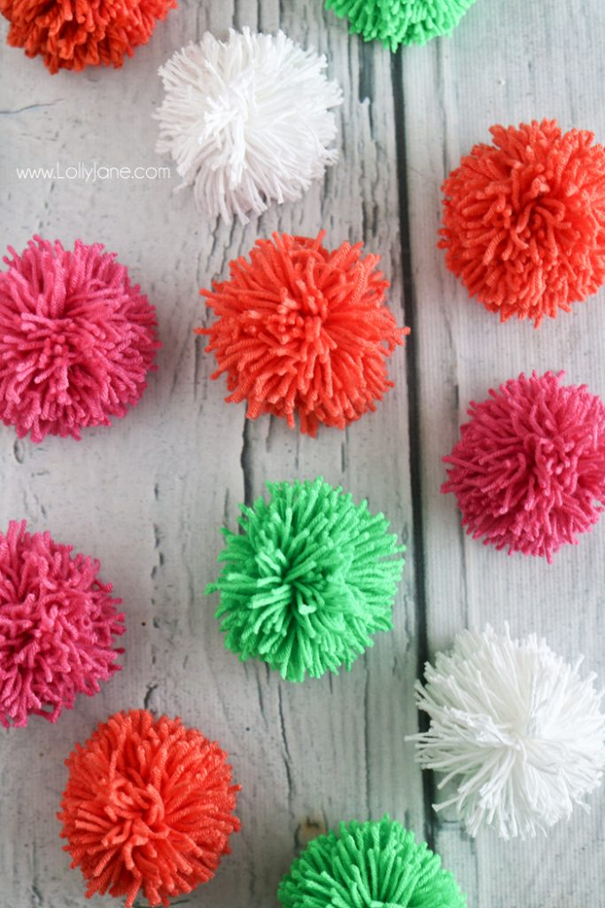 how to make large wool pom poms