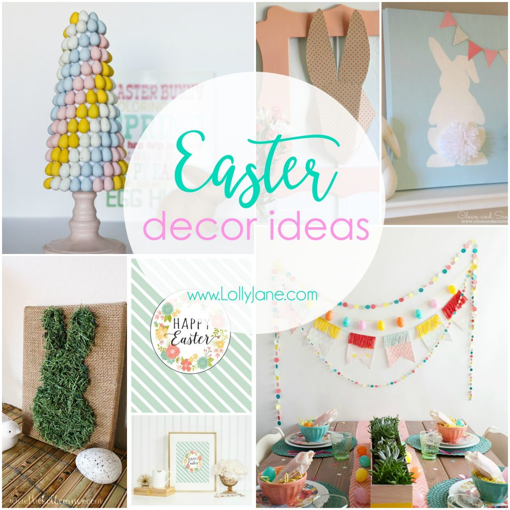 Easy and cute Easter decor ideas! Perfect for spring, too!