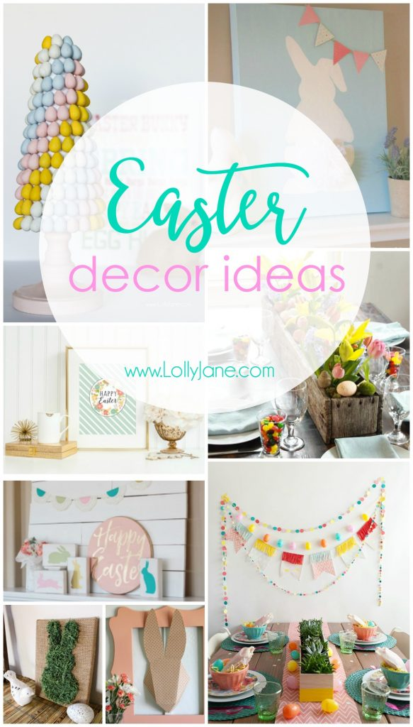 Cute Easter decor ideas! Perfect to add touches of Easter to your spaces!