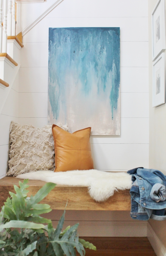 Inspirational DIY abstract art using paint samples City Farmhouse