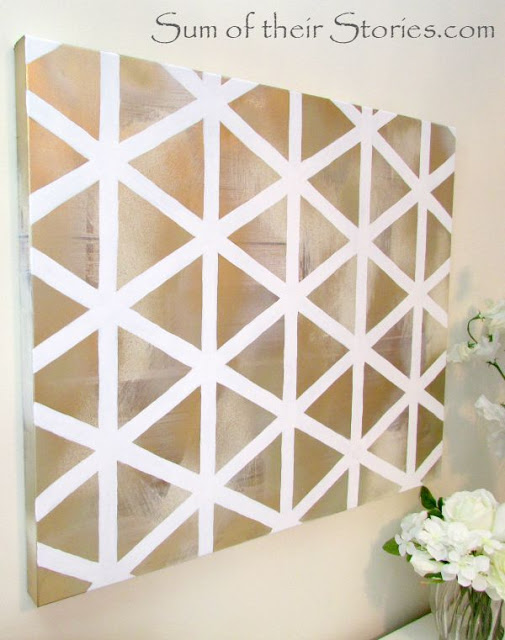 Amazing DIY herringbone wall art I Should Be Mopping the Floor
