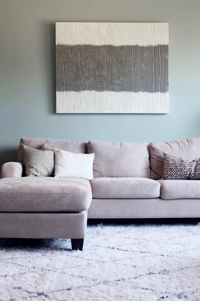 Simple DIY textured wall art Bower Power Blog