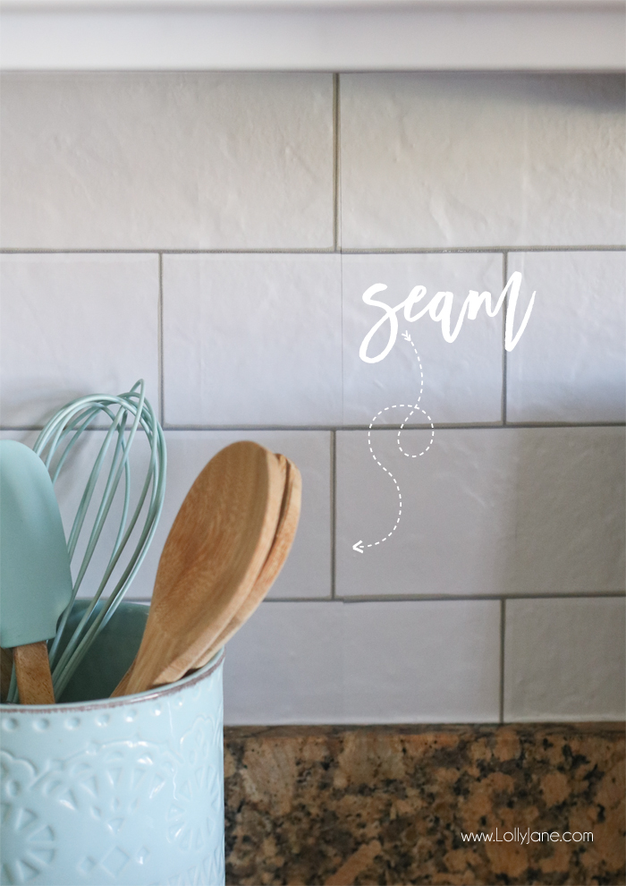 Faux Subway Tile Backsplash Wallpaper