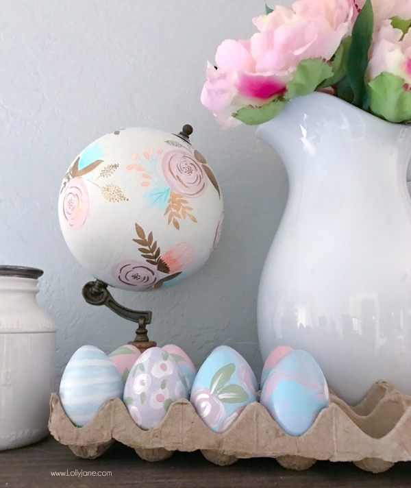 DIY Painted Faux Easter Eggs, easy to make and keep year after year!