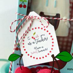 cherry gift teacher appreciation tags