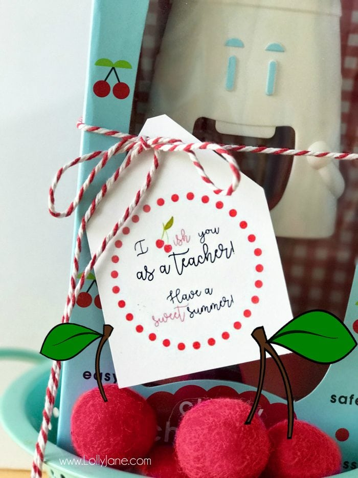 Cherry Gift Teacher Appreciation Tags Lolly Jane
