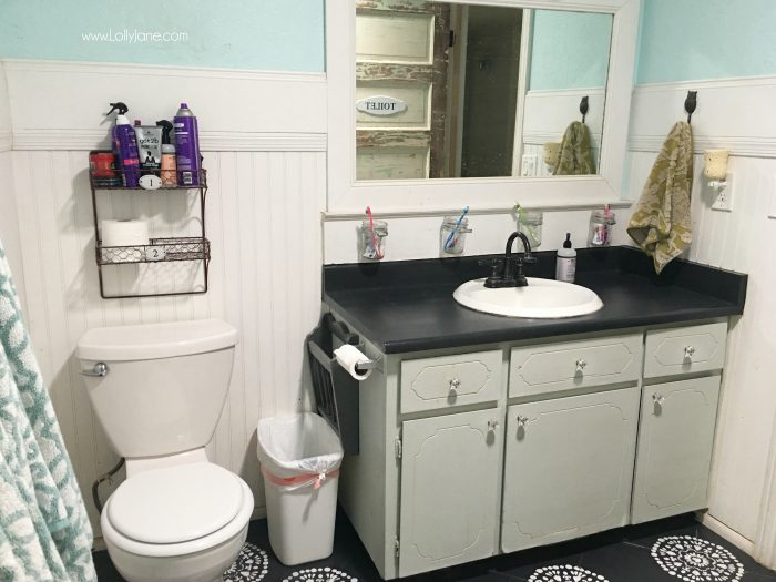 I Chalk Painted My Bathroom Countertops! I Actually Love My Chalk Paint Laminate  Countertops,