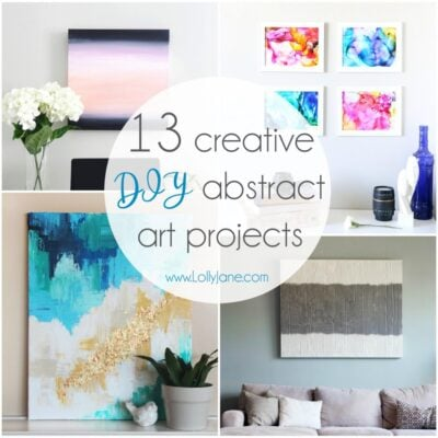 13 Creative DIY Abstract Wall Art Projects