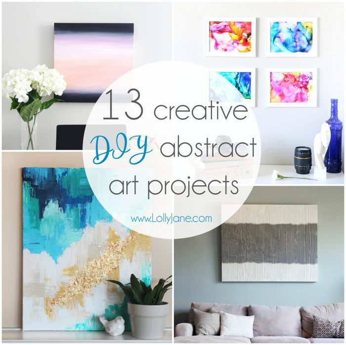 13 Creative DIY Abstract Wall Art Projects - Lolly Jane on Creative:kqmwrvdqiag= Wall Art Ideas  id=41058