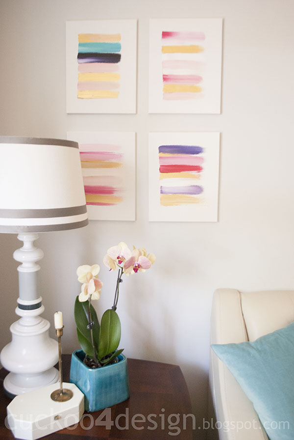 Ideal DIY abstract brushstroke art Cuckoo Design