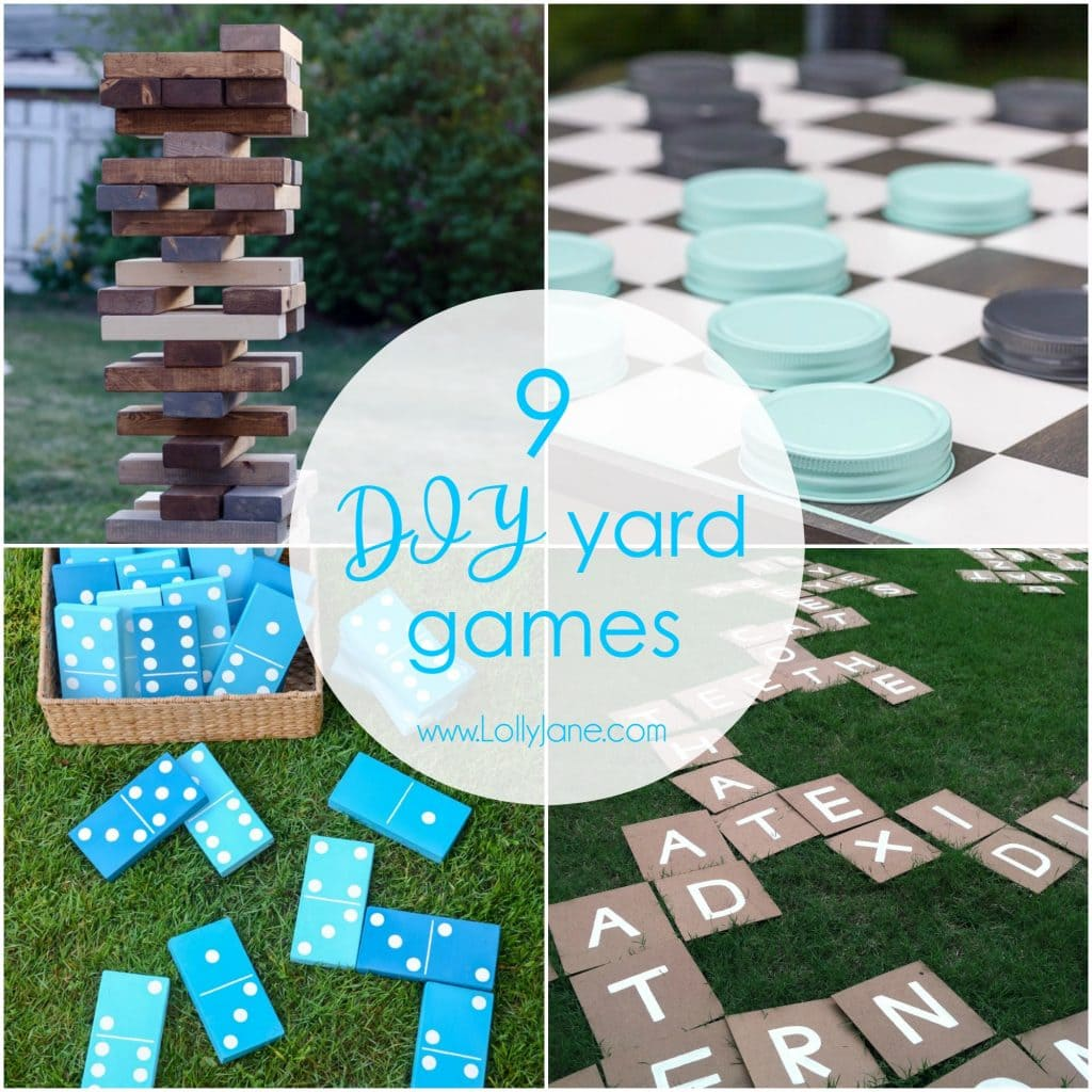 9 diy outdoor yard games lolly jane for Fun ideas for adults
