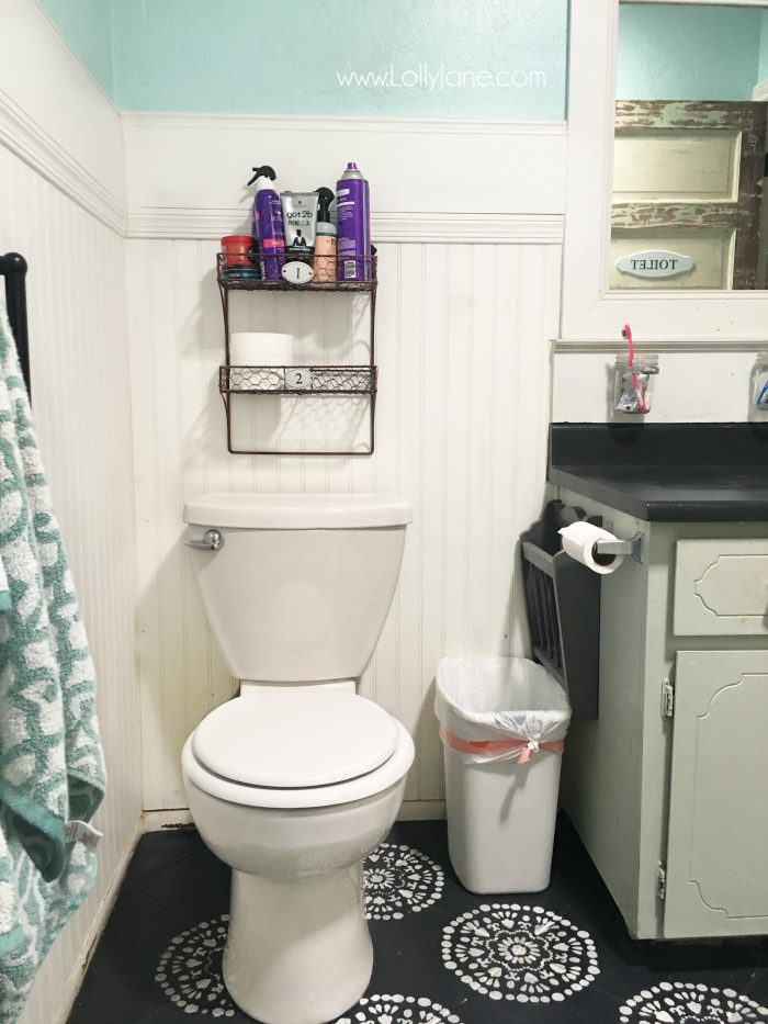 You have got to see the after of bathroom cabinet makeover!