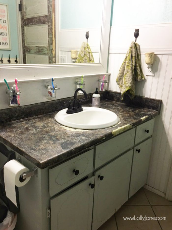 Ordinaire I Chalk Painted My Bathroom Countertops! I Actually Love My Chalk Paint  Laminate Countertops,