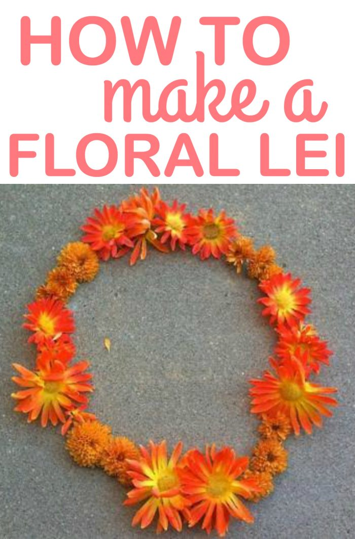 How to make a fresh floral lei, so easy!