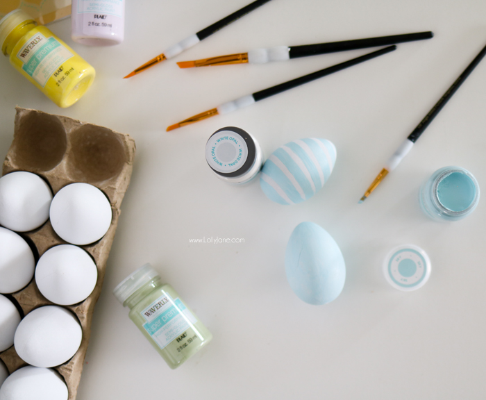 DIY Painted Floral Faux Easter Eggs, easy to make and keep year after year!