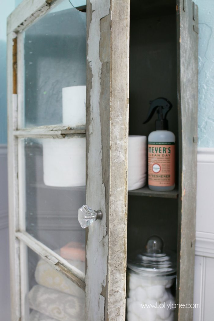 Make this rustic cabinet for less than $100!! Love this easy diy cabinet!