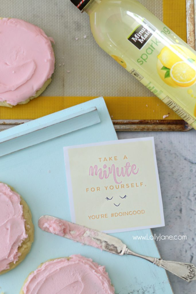 "The yummiest sugar cookies ever! Put them in a ""basket of sunshine"" to encourage someone they're #doingood :)"