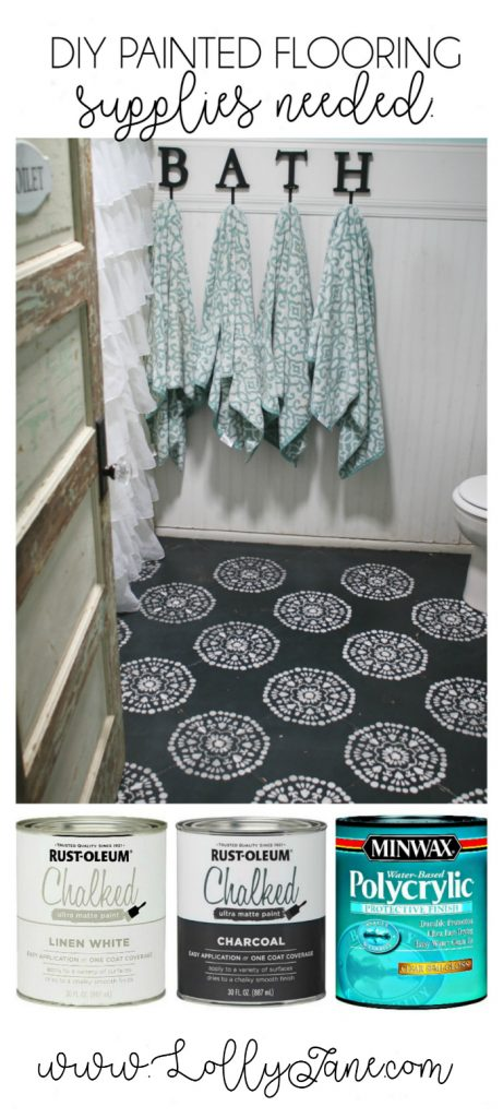 diy painted bathroom floor. super affordable bathroom floor makeover solution: how to chalk paint tile floors! so glad diy painted