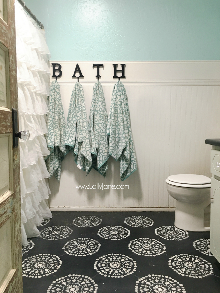 black white and grey bathrooms. Super Affordable Bathroom Floor Makeover Solution  How To Chalk Paint Tile Floors So Glad Hate Your Paint Them Lolly Jane