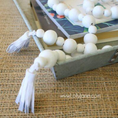 DIY | How to make a wood bead garland